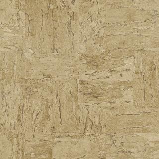 Tapet cu aspect de piatra decorativa in nuante de crem si maro, D445770E 1