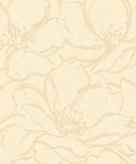 Tapet model floral in nuante de crem cu centrul florilor sidefat, DJ93707I (tapet dormitor, tapet living) 1