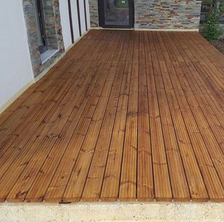 Deck din pin nordic termotratat, Lunawood, grosime 26 mm, DPTH 3000/4200x92x26 4
