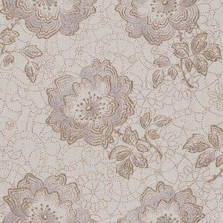 Tapet floral auriu cu mov, in relief pe fundal bej, DZ6225CT 1