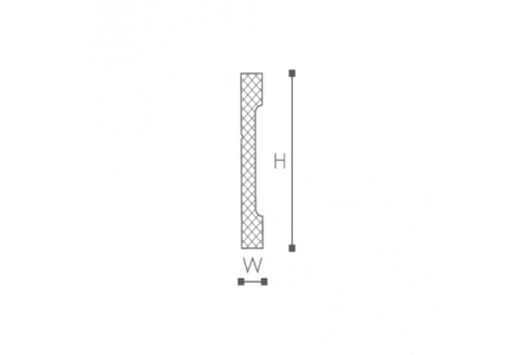 Plinta/brau din plastic de inalta densitate FD2 2