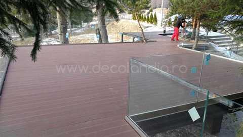 Pardoseala exterior compozit (deck WPC) culoare cafeniu, D-CWPC 2900x150x25 mm 6