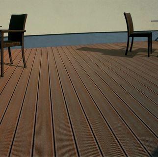 Pardoseala exterior compozit (deck WPC) culoare cafeniu, D-CWPC 2900x150x25 mm 14