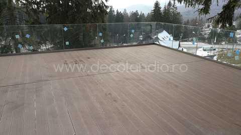 Pardoseala exterior compozit (deck WPC) culoare cafeniu, D-CWPC 2900x150x25 mm 11