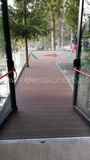 Pardoseala exterior compozit (deck WPC) culoare cafeniu, D-CWPC 2900x150x25 mm 12
