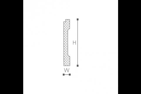 Plinta/brau din plastic de inalta densitate FD1 2