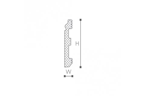 Plinta din plastic de inalta densitate FL1 2