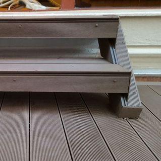Pardoseala exterior compozit (deck WPC) culoare cafeniu, D-CWPC 2900x150x25 mm 8