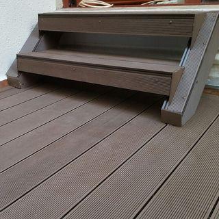 Pardoseala exterior compozit (deck WPC) culoare cafeniu, D-CWPC 2900x150x25 mm 7