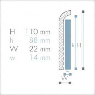 Plinta de acoperire din polimer CF1 2