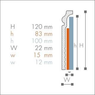 Plinta de acoperire din polimer CF3 2