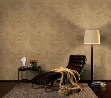 Tapet cu aspect de piatra decorativa in nuante de crem si maro, D445770E 5