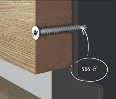 Surub autoforant lemn-metal, 4,8x45 mm, cod: SBS4845H 3