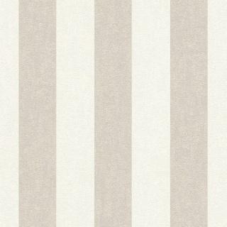Tapet cu dungi in nuate de alb si bej, D402902E 1