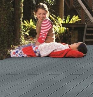Pardoseala exterior compozit (deck WPC) culoare gri, D-GRWPC 2900x150x25 mm 8