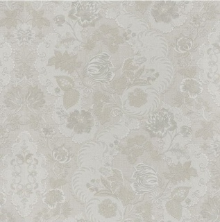 Tapet floral pe nuante de gri, bej si alb, DZ2917R 1