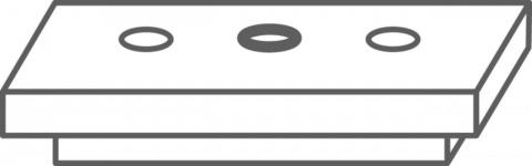 Clips WPC UPM Profi Deck,MARO TOAMNA  cu surub, 63 mm lungime 2