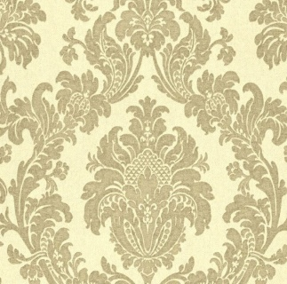 Tapet baroc floral bej cu maro, Delen, cod Z63027  1