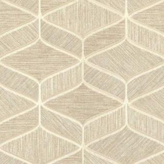 Tapet geometric cu nuante de maro, crem si auriu, Delen, cod Z63031 1